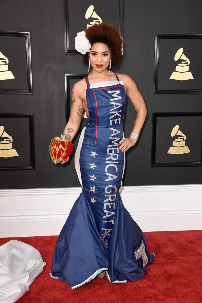 LOS ANGELES, CA - FEBRUARY 12: Singer Joy Villa attends The 59th GRAMMY Awards at STAPLES Center on February 12, 2017 in Los Angeles, California. (Photo by Frazer Harrison/Getty Images)