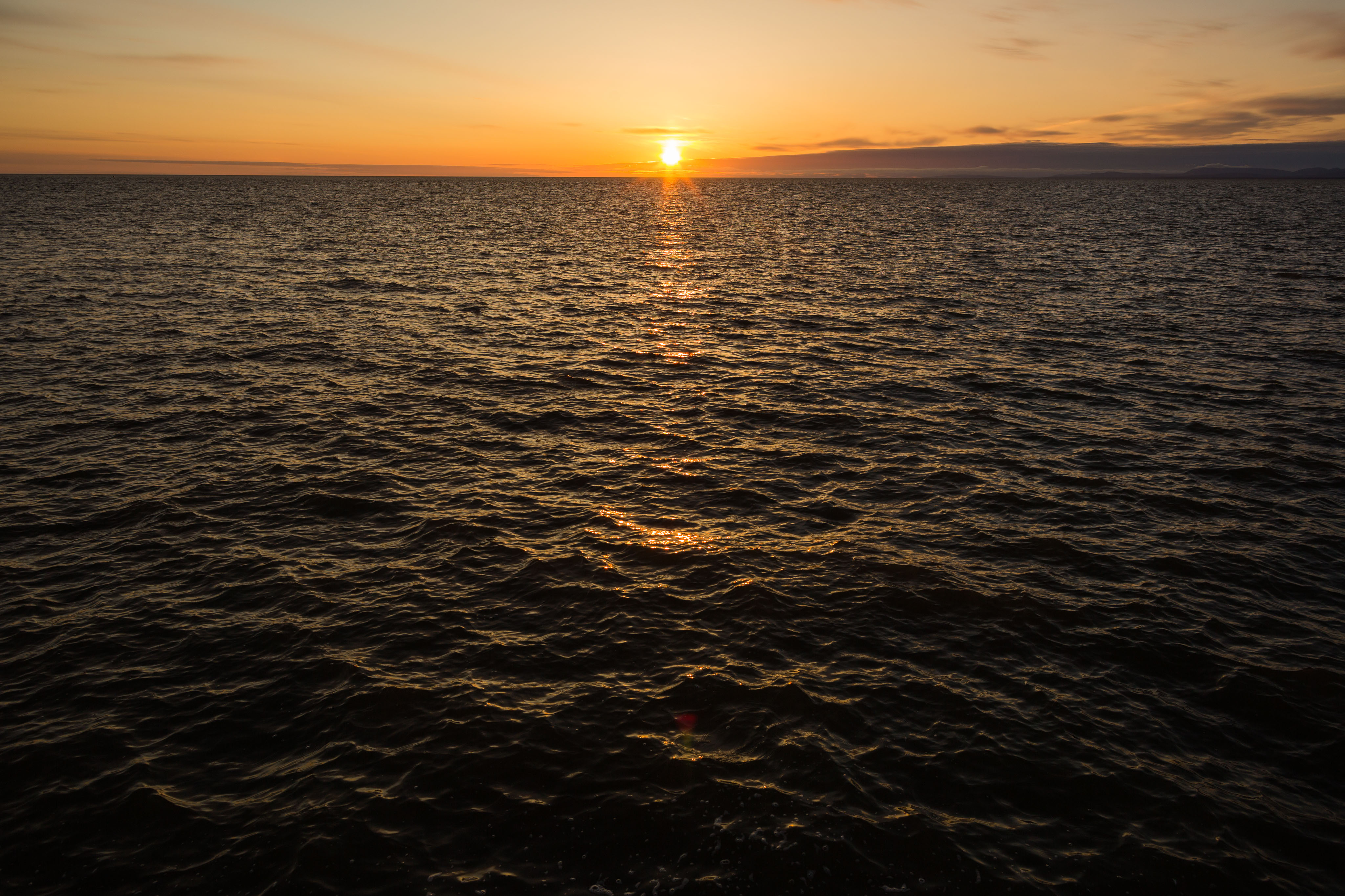 Sunset on the Chukchi Sea in Kotzebue on Monday, August 31, 2015. President Obama will visit the Northwest Arctic community on Wednesday, the first time a president will set foot in the American Arctic. (Loren Holmes / Alaska Dispatch News)