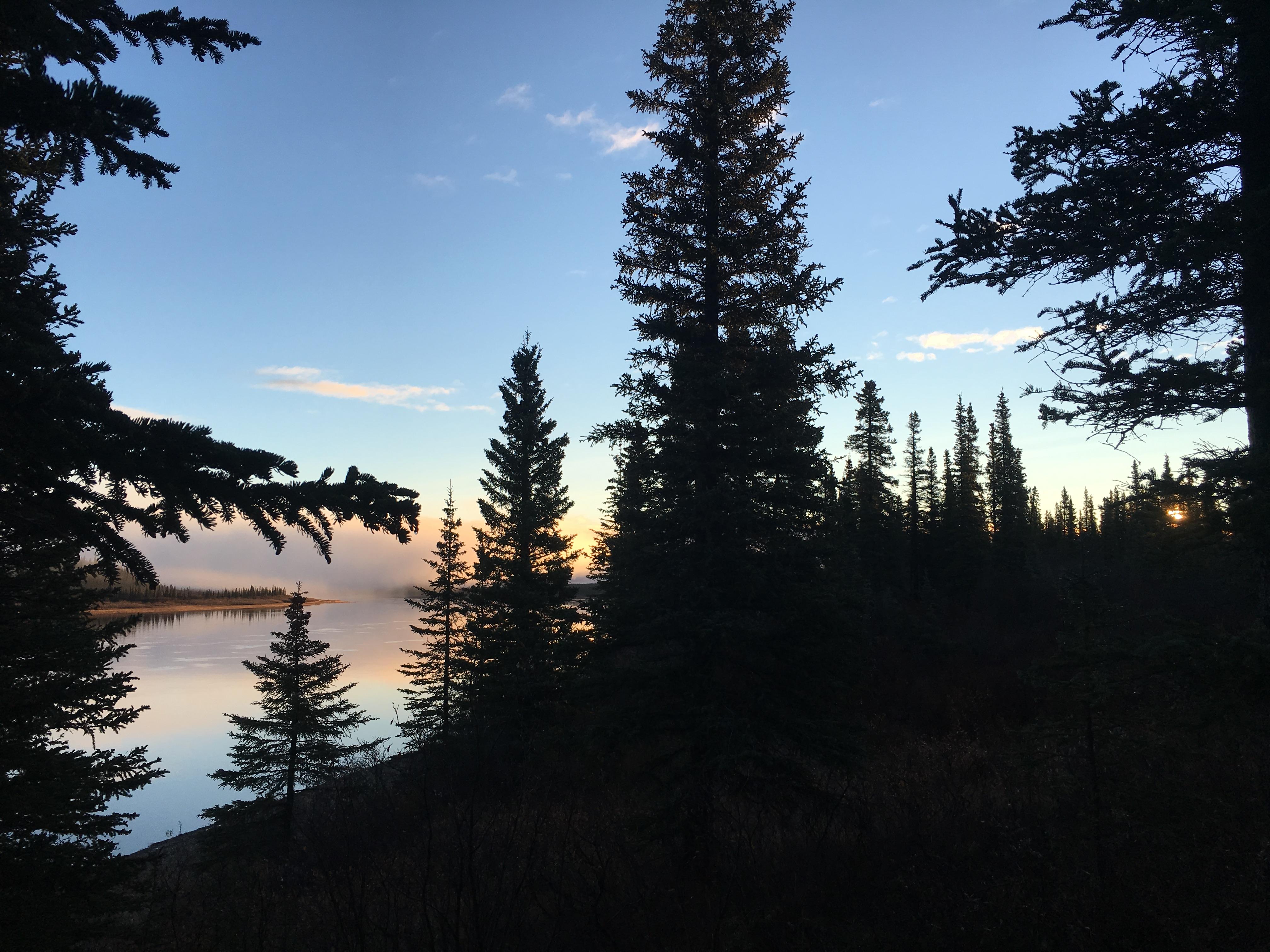 The sun rises on the Kobuk River. (Laureli Ivanoff) ONE TIME USE