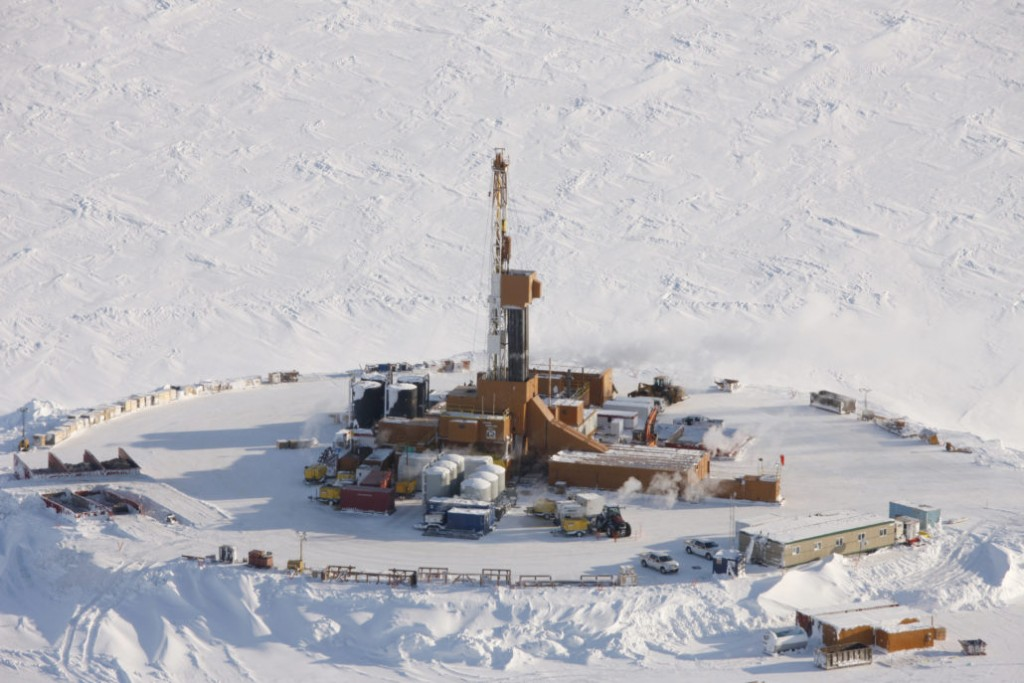 Smith Bay drilling rig in Alaska Arctic southeast of Barrow. Caelus Energy undated handout photo