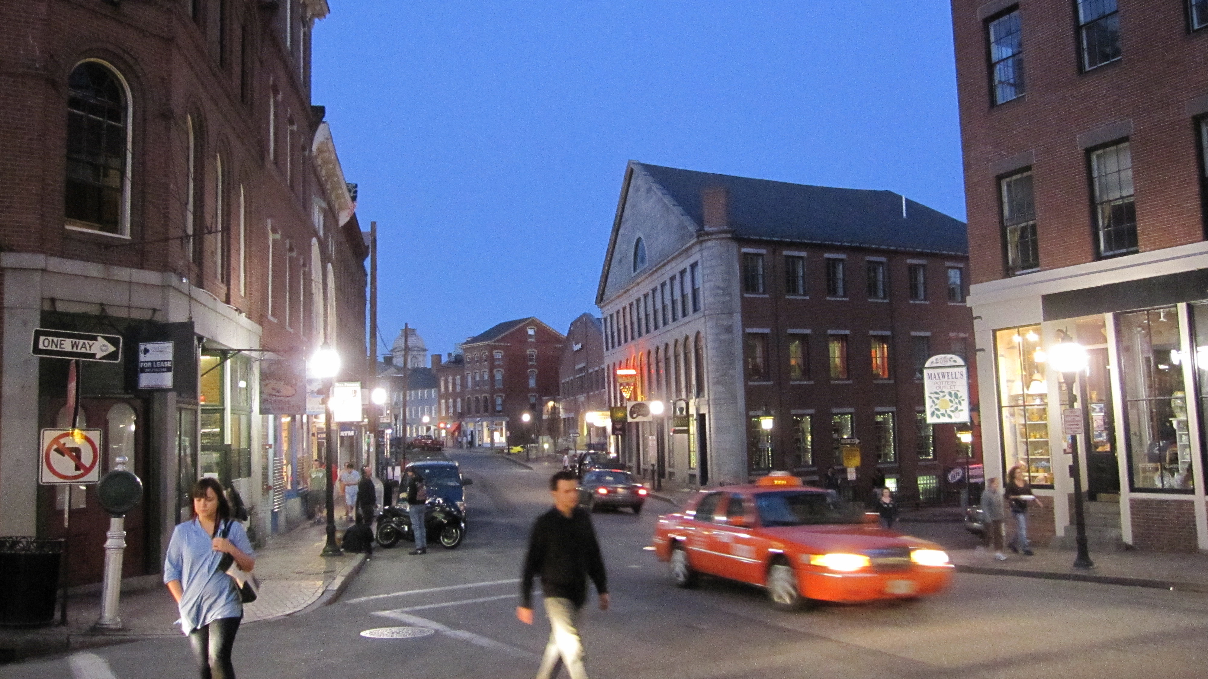 Bricks are heavily featured in the buildings of downtown in Portland, Maine. (Josh Noel/Chicago Tribune/MCT)