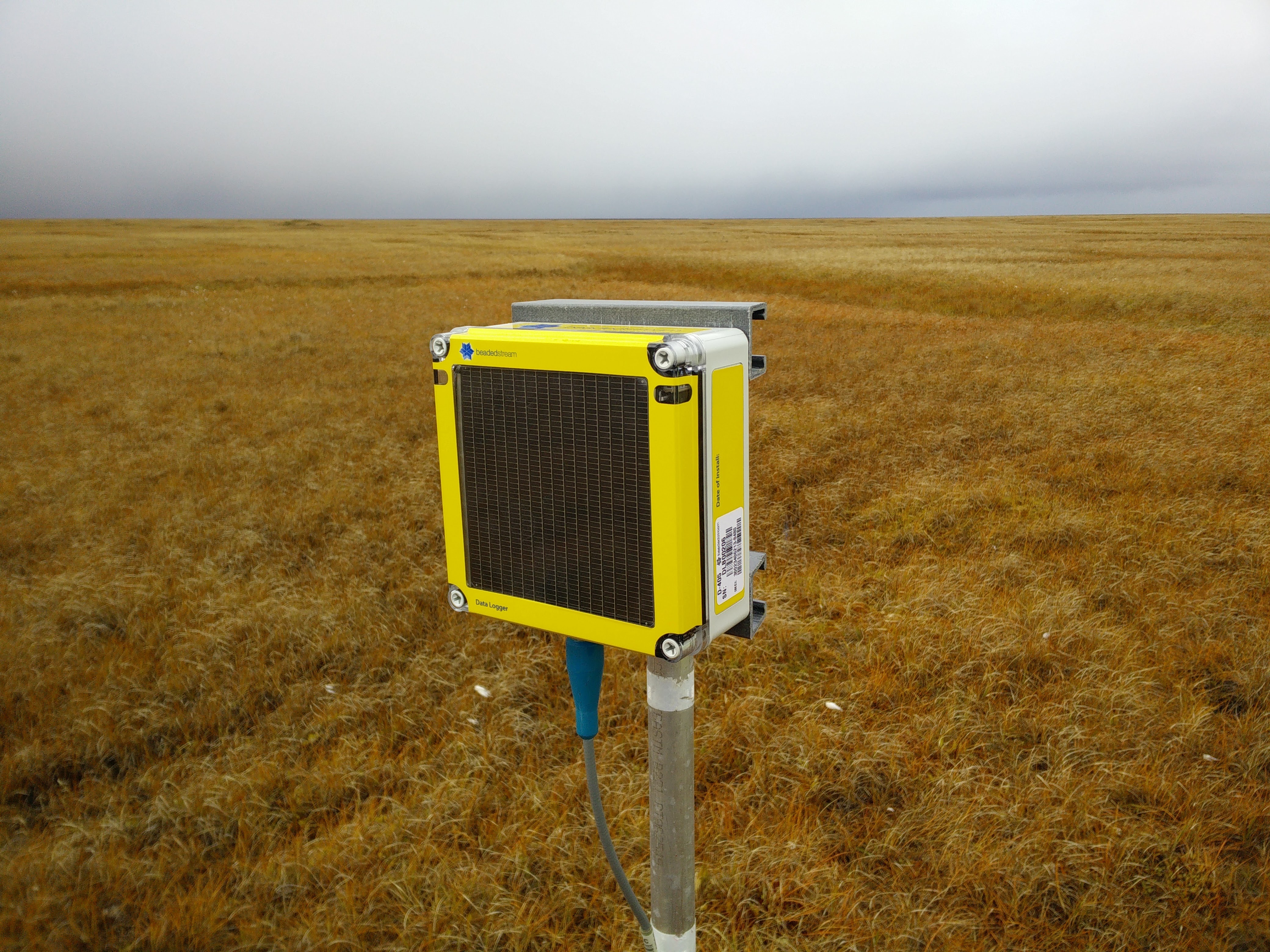 A BeadedStream transmitter automatically delivers real-time tundra temperatures to North Slope operators and regulators (Paul Harren)