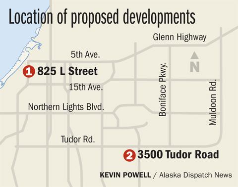 Proposed developments L Street Tudor Road