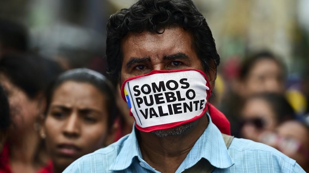 Manifestantes contra el gobierno chavista (AFP)