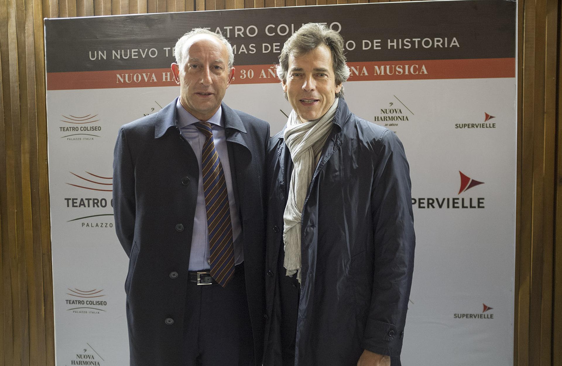 Maurizio Fritelli, presidente de la Fundación Orchestra Regionale Toscana, y Marco Parri, manager de la Orquesta