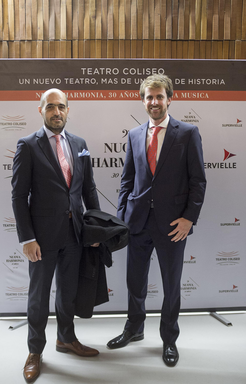 Walter D'Aloia Criado, cónsul honorario de España, y Matías Irisarri