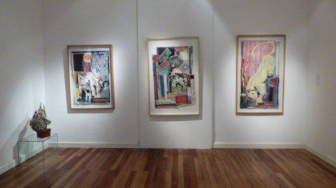"""Más de cien obras de Cornejo y Aberastury componen la exhibición """"Diálogos en el MAC"""".M. Corrado (MAC)"""