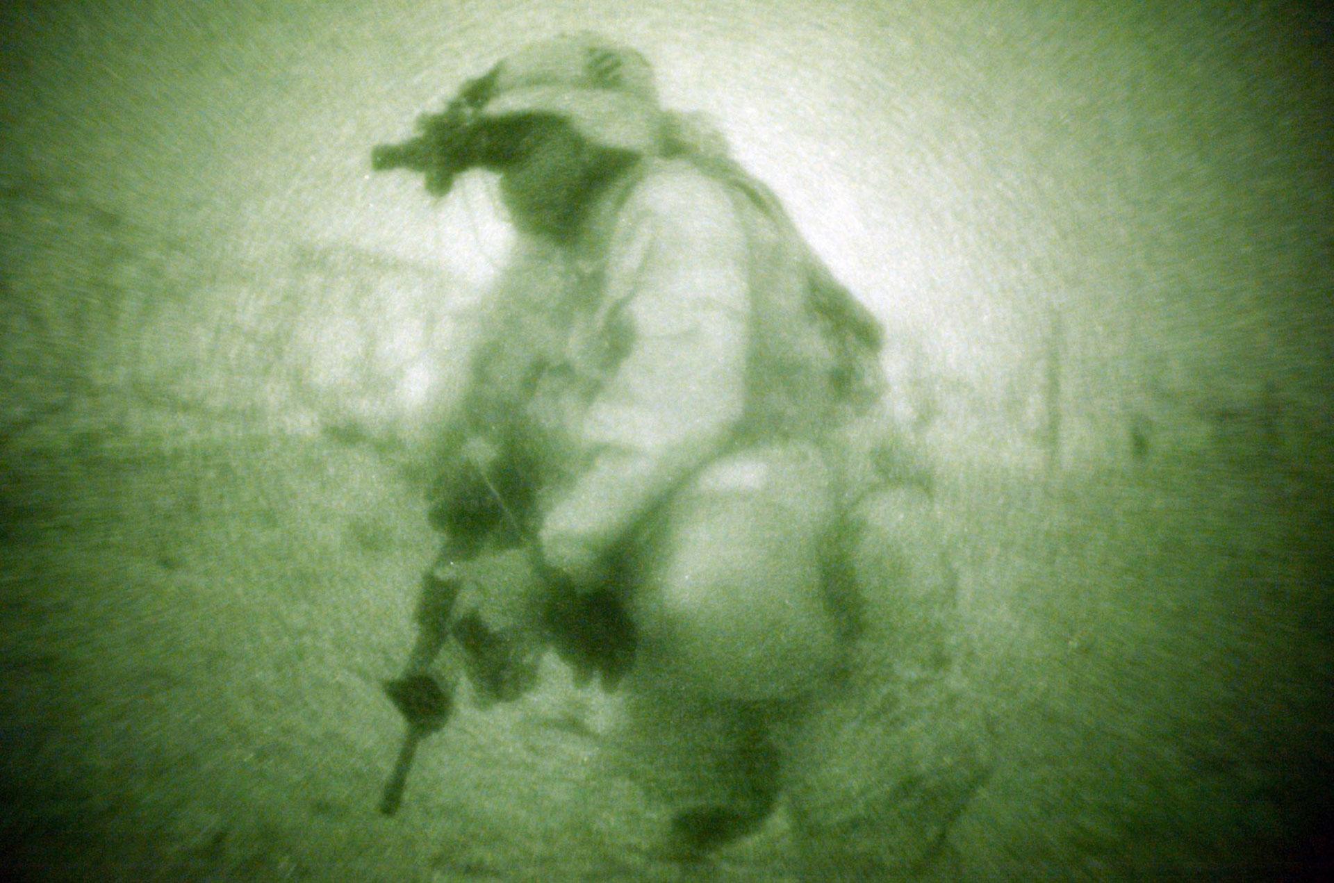 2013. Un soldado de la Tercera División de Infantería durante un operativo en Kuwait. Luego irían a luchar a Irak