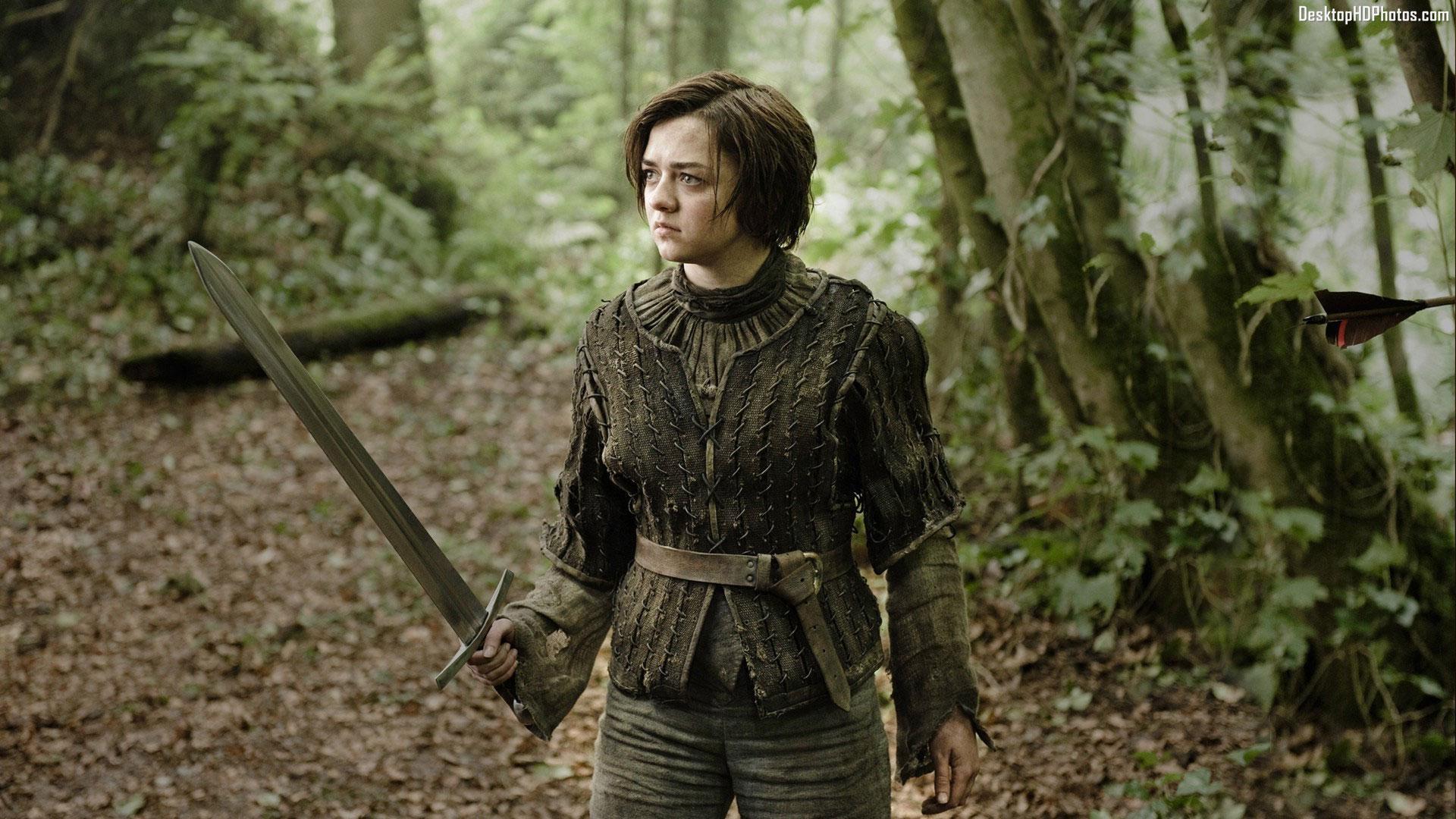 """Maisie Williams en su papel de """"Arya Stark"""" en Game Of Thrones"""