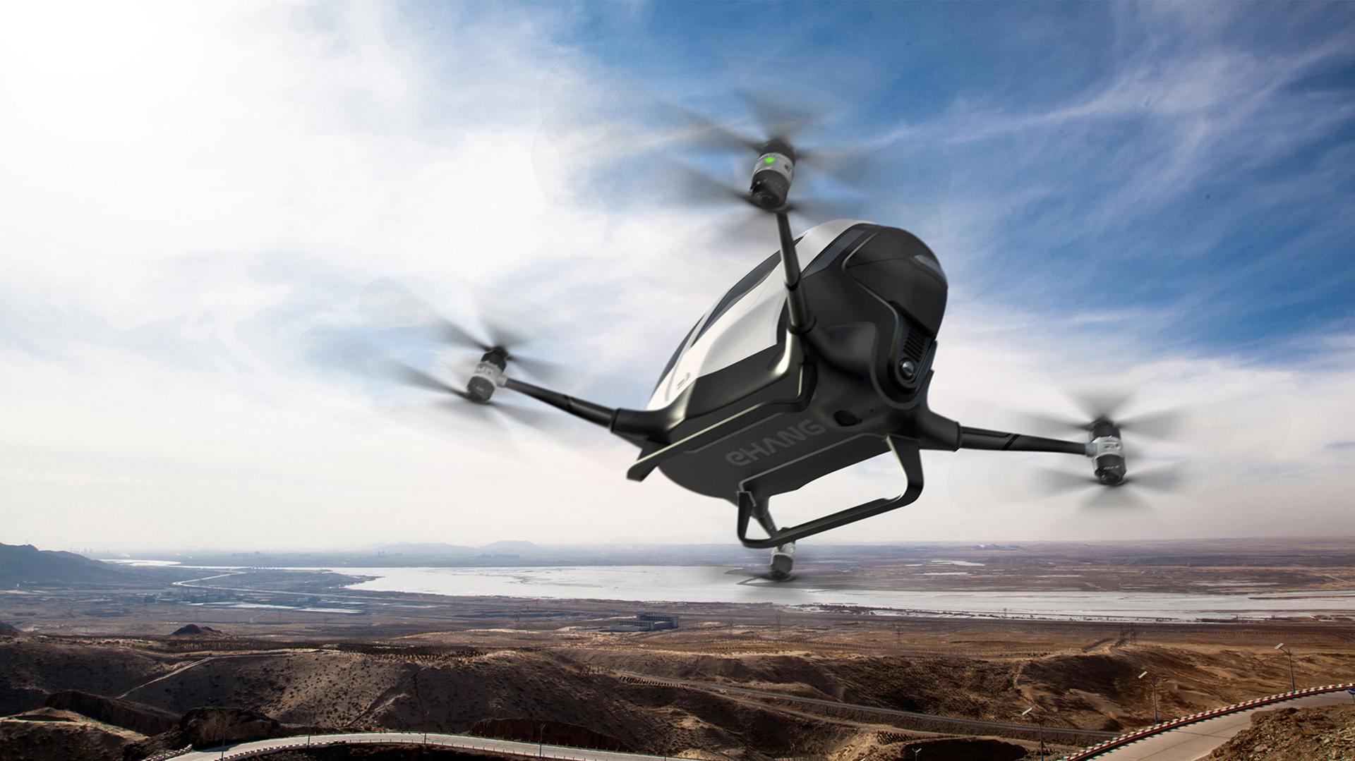"""EHang 184, el primer """"taxi drone"""" del mundo"""