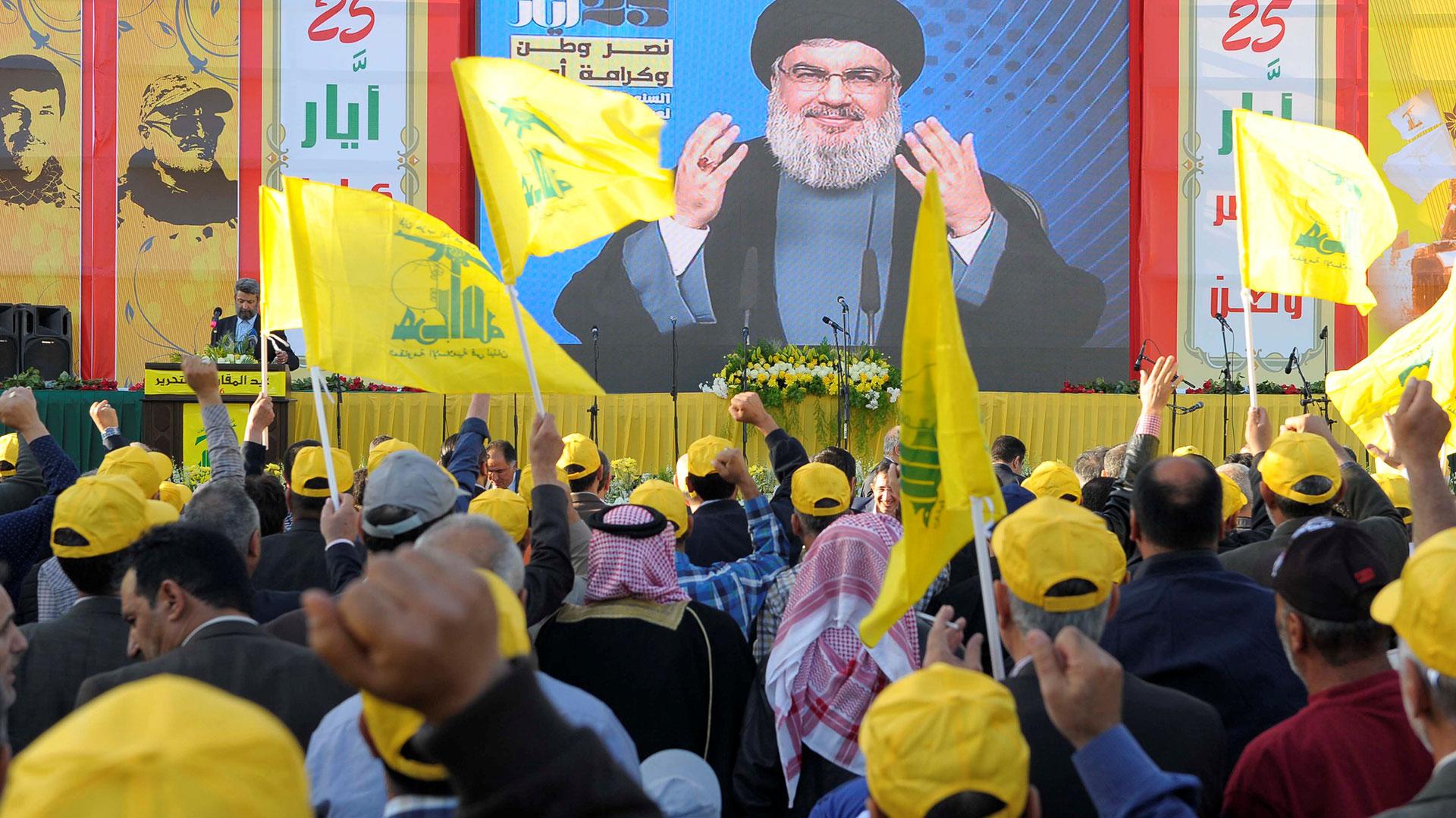 Hasan Nasrallah, jefe del grupo terrorista Hezbollah, fue sancionado por EEUU (Reuters)