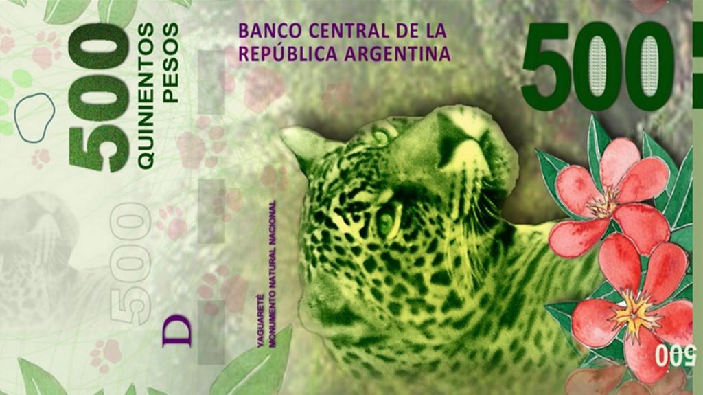 El billete de de $500 traerá impreso un Yaguareté, en referencia a la Región Noreste