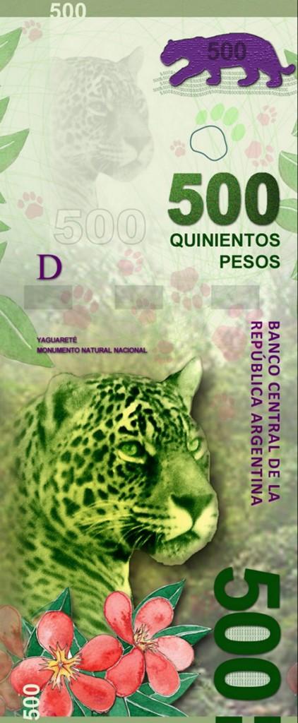 El nuevo billete de 500 pesos con la figura del animal autóctono