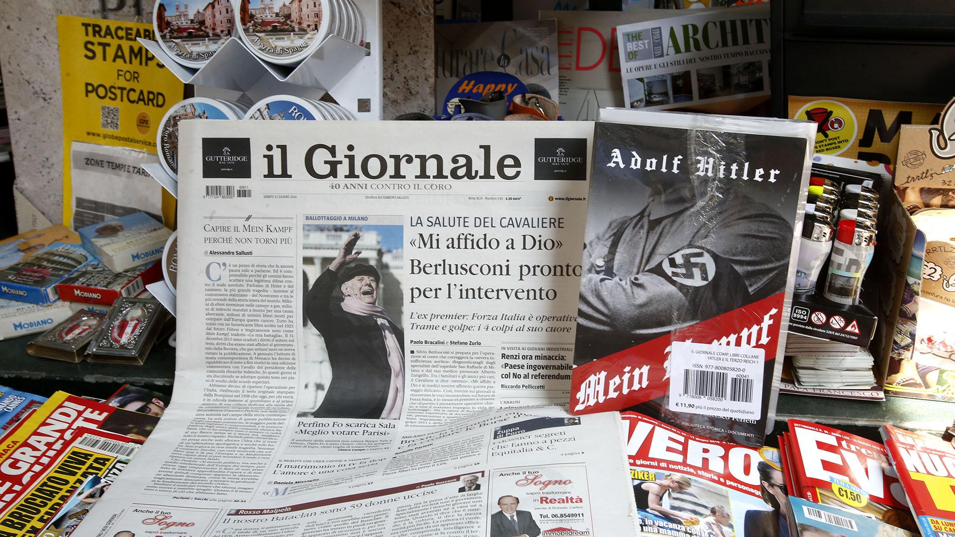 """El diario il Giornale ofreció a sus lectores """"Mi Lucha"""" de Adolf Hitler (AP)"""