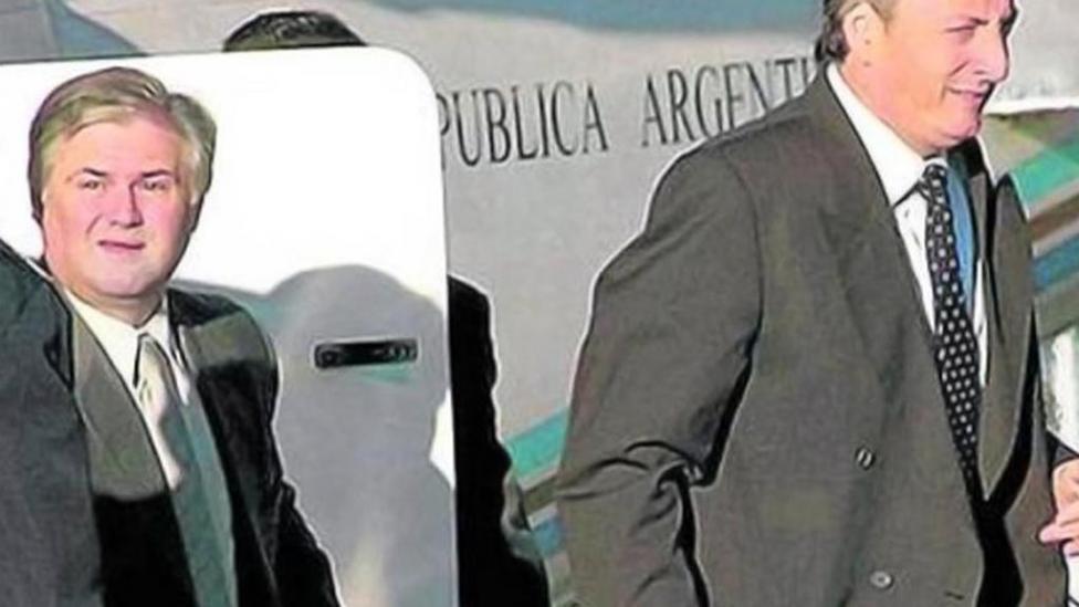 Daniel Muñoz y Néstor Kirchner