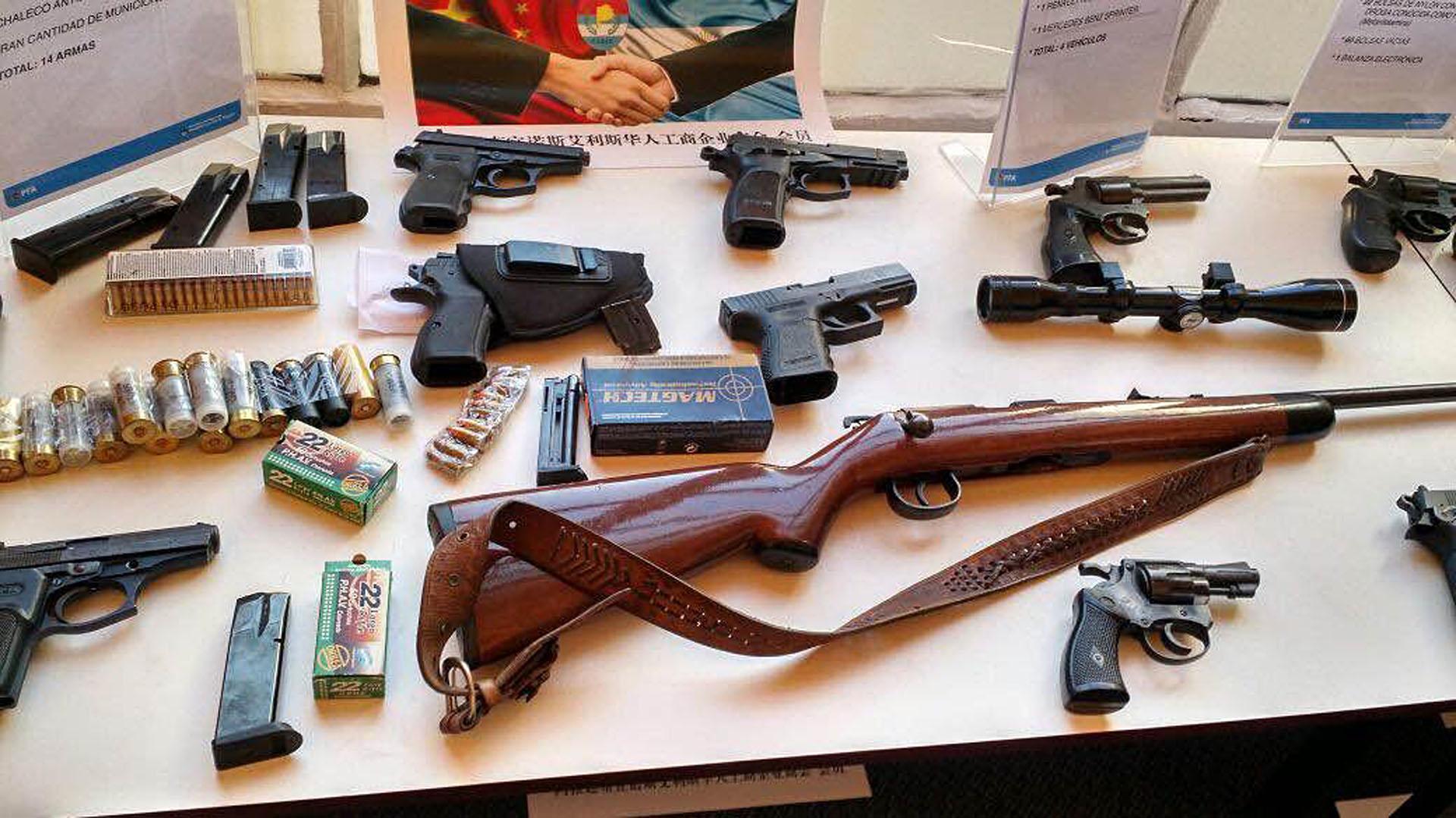 Armas secuestradas durante el operativo
