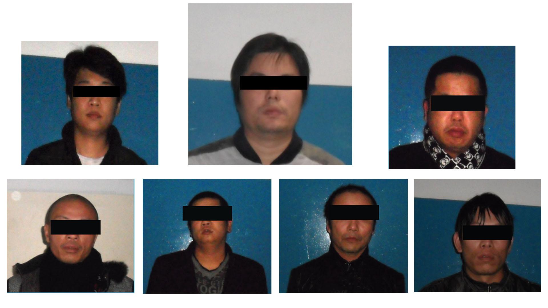 Yong Ye y sus presuntos lugartenientes.