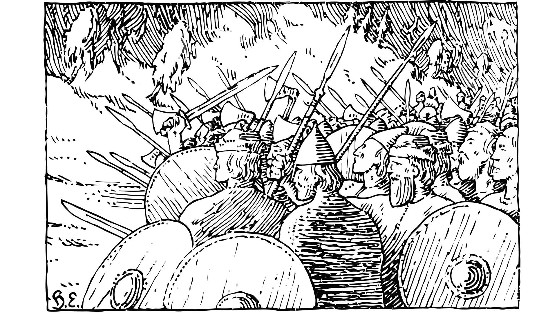 El coraje guerrero era un tema recurrente en Borges