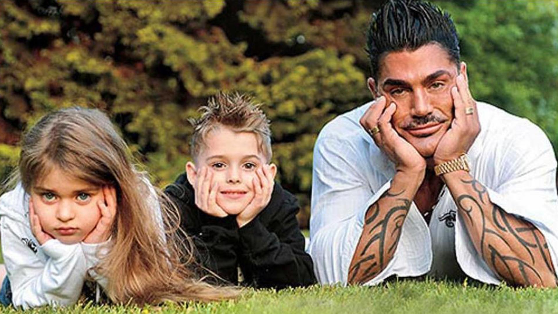 Ricardo Fort y sus hijos, Martita y Felipe