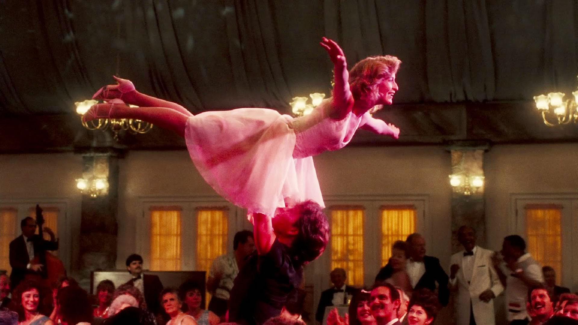 """Patrick Swayze en una de las escenas más recordadas de """"Dirty Dancing"""""""