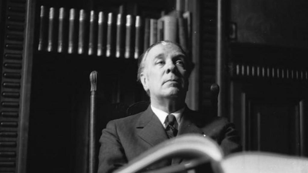 Retrato de Jorge Luis Borges por Sameer Makarius (Colección Makarius)