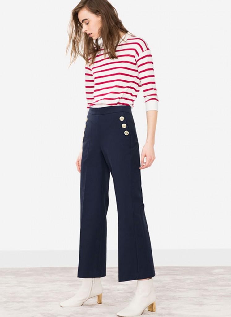El estilo marinero gana terreno y se traduce en pantalones anchos y al tobillo (Utterque)