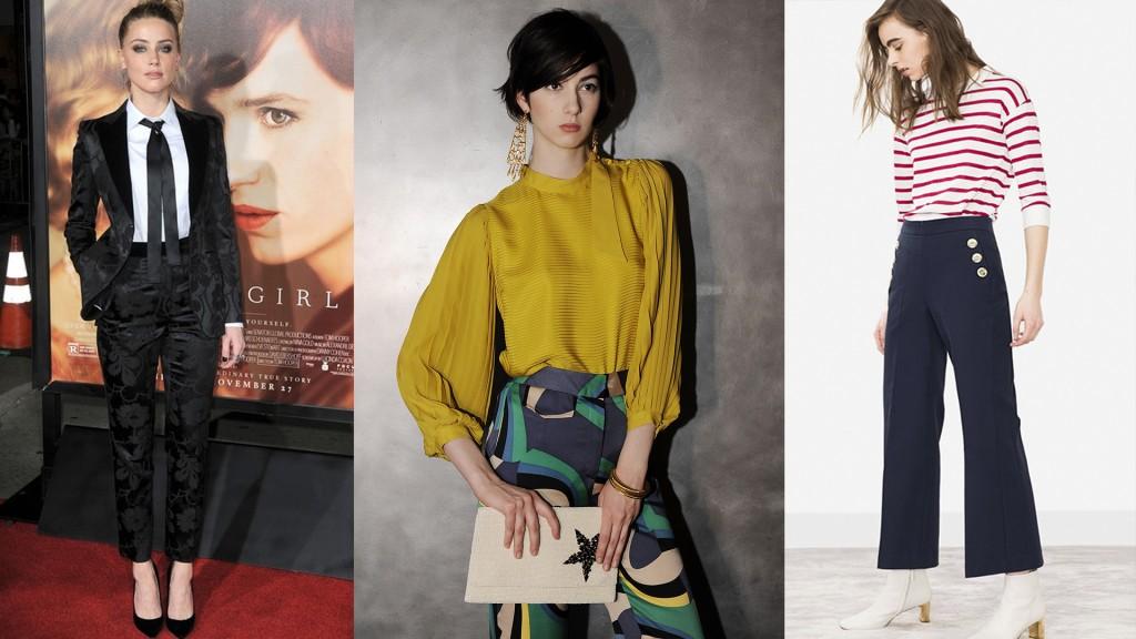 La camisa con lazo, el tono mostaza y los pantalones crop, los infaltables en este invierno (Shutter)
