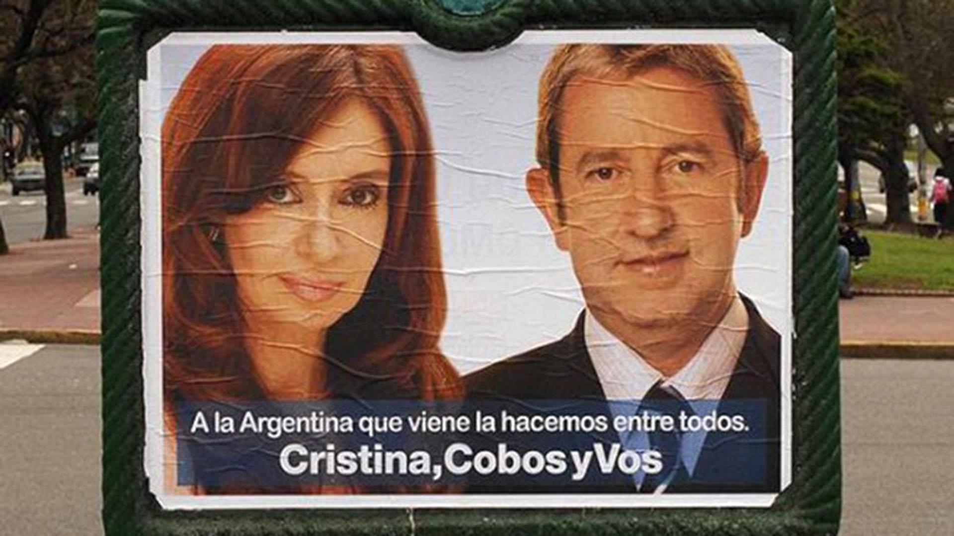 Afiche de campaña presidencial del Frente para la Victoria en el año 2007
