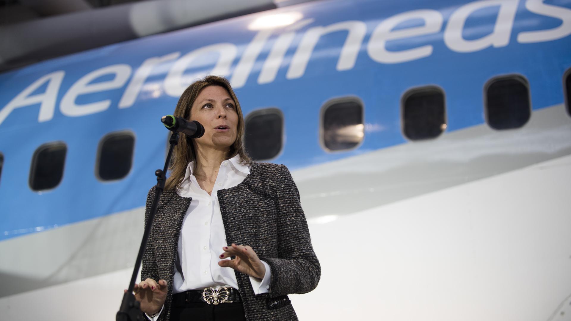 Isela Costantini, presidente de Aerolíneas Argentinas (Adrián Escandar)