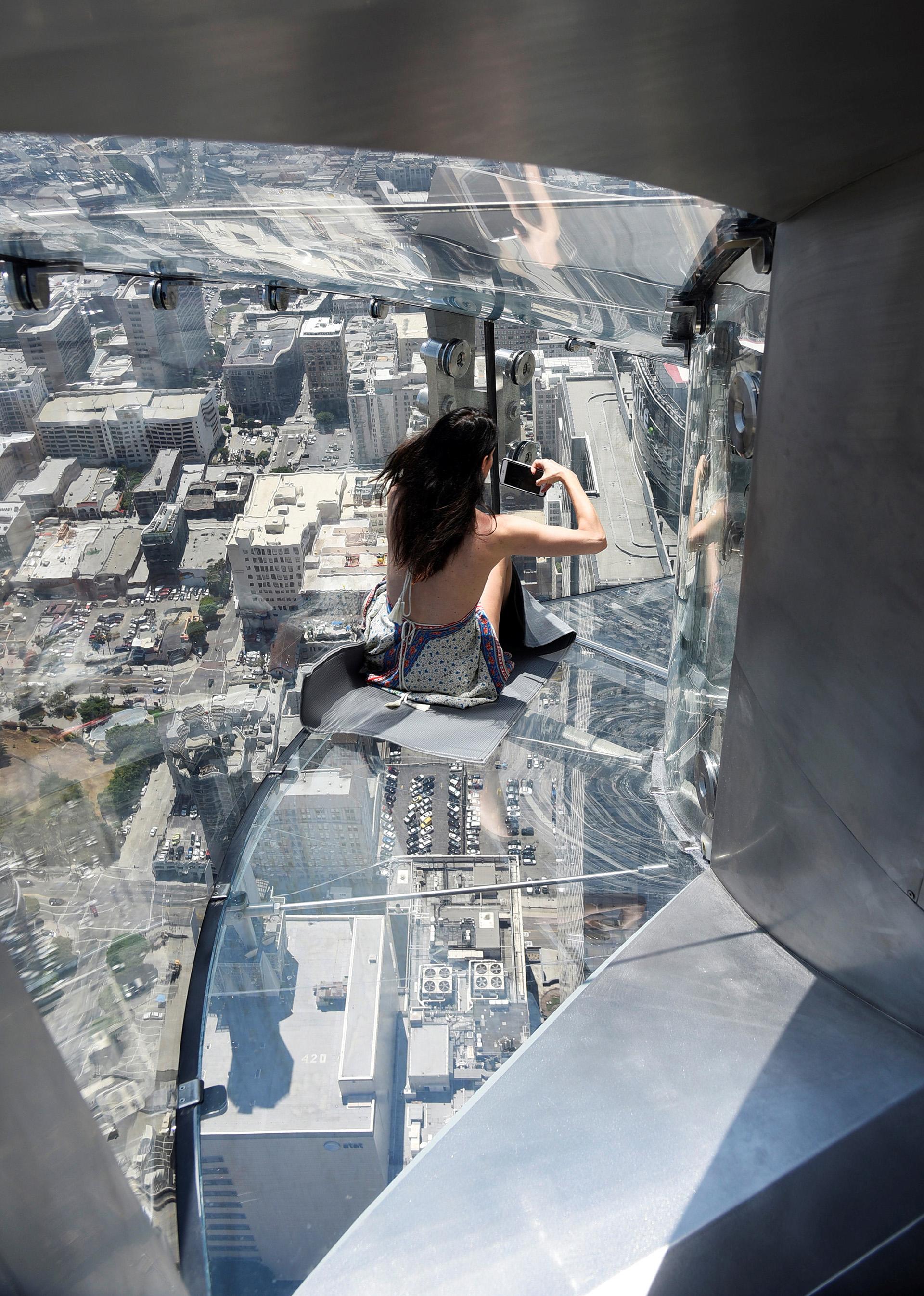 a torre más famosa de la ciudad de Los Angeles, en Estados Unidos, la US Bank Tower, es especialmente conocida por su aparición constante en películas de acción (REUTERS)