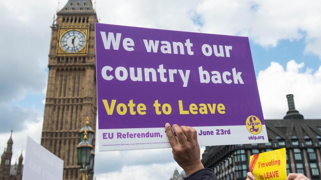 """""""Queremos nuestro país de nuevo. Voten por abandonar"""" (AFP)"""