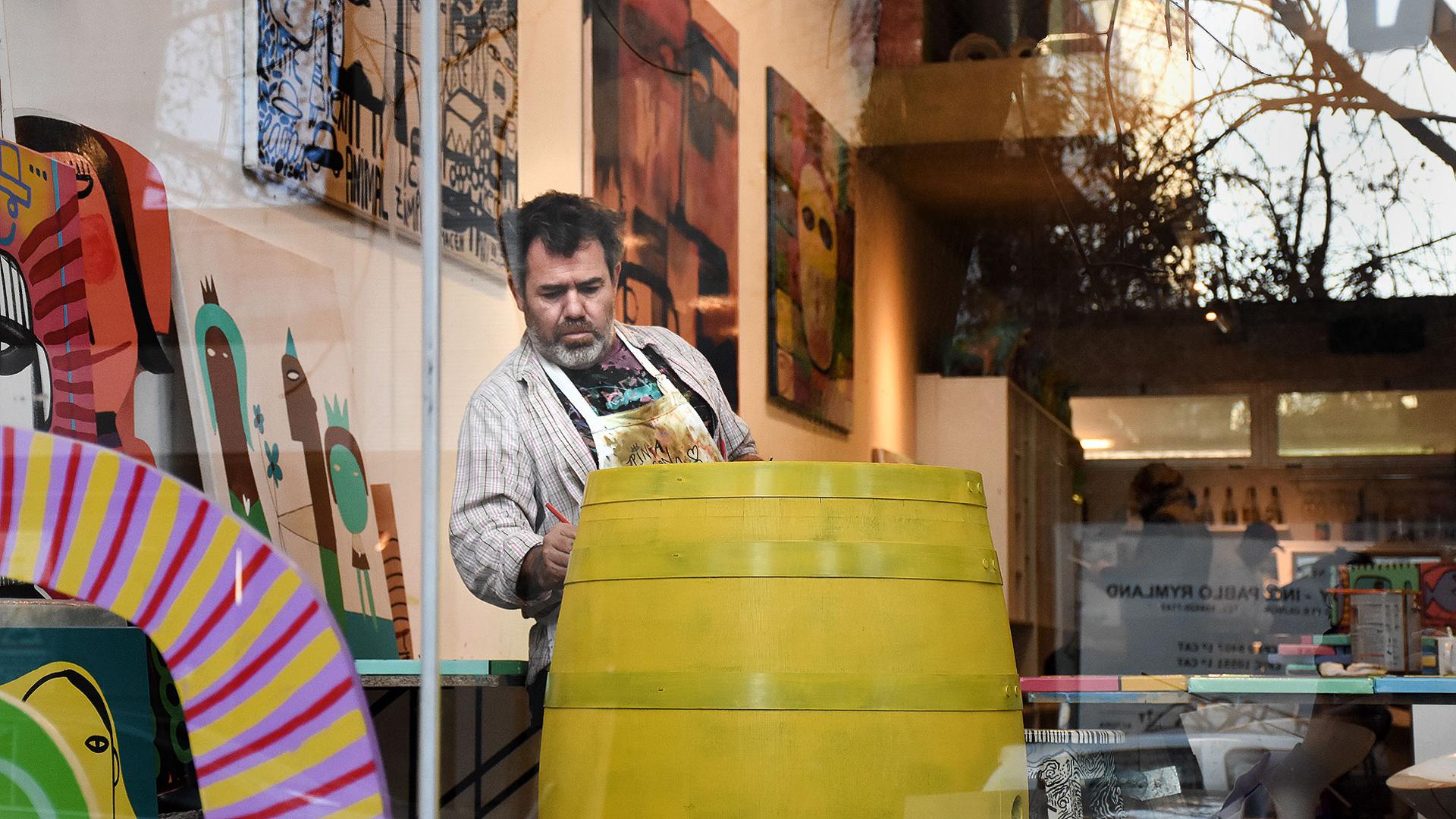 El artista siguió viviendo en Resistencia pero ya se radicó en Buenos Aires (Nicolás Stulberg)