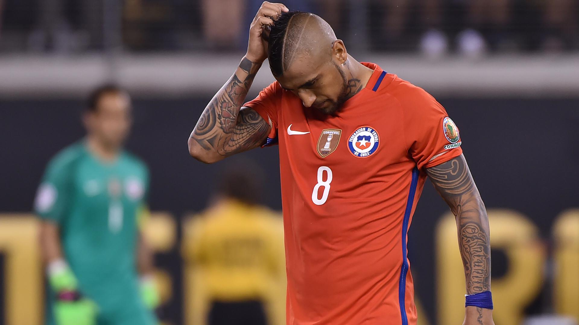 Arturo Vidal, el único que falló en 'La Roja' (AFP)