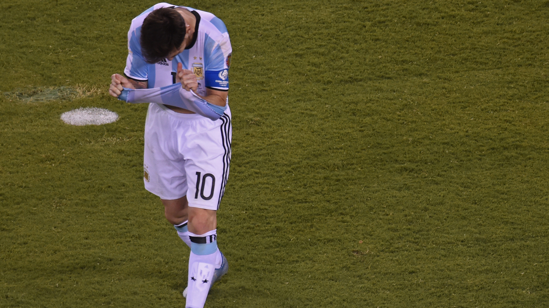 Lionel Messi falló su penal (AFP)