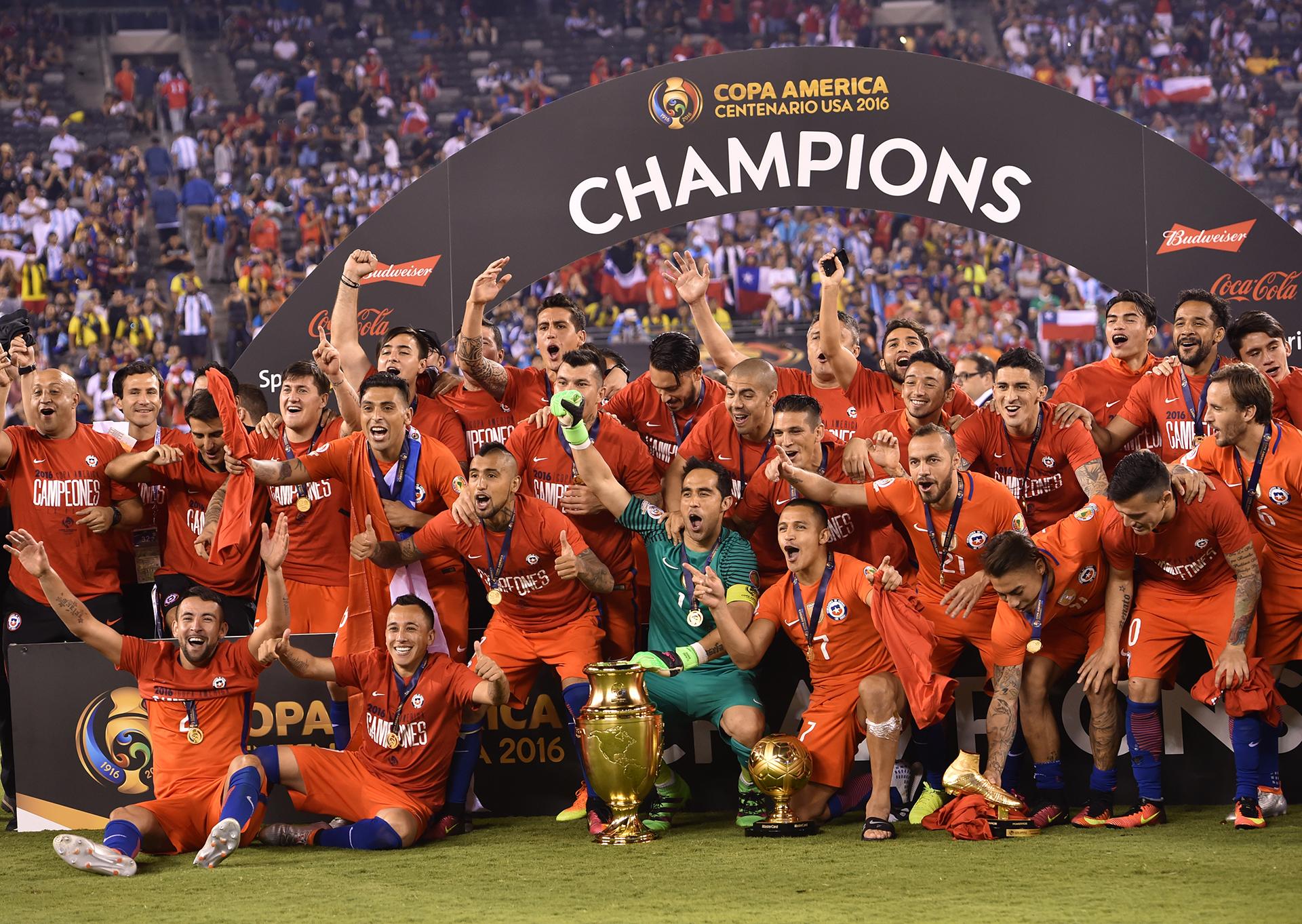 Chile se consagró por segunda vez en su historia (AFP)
