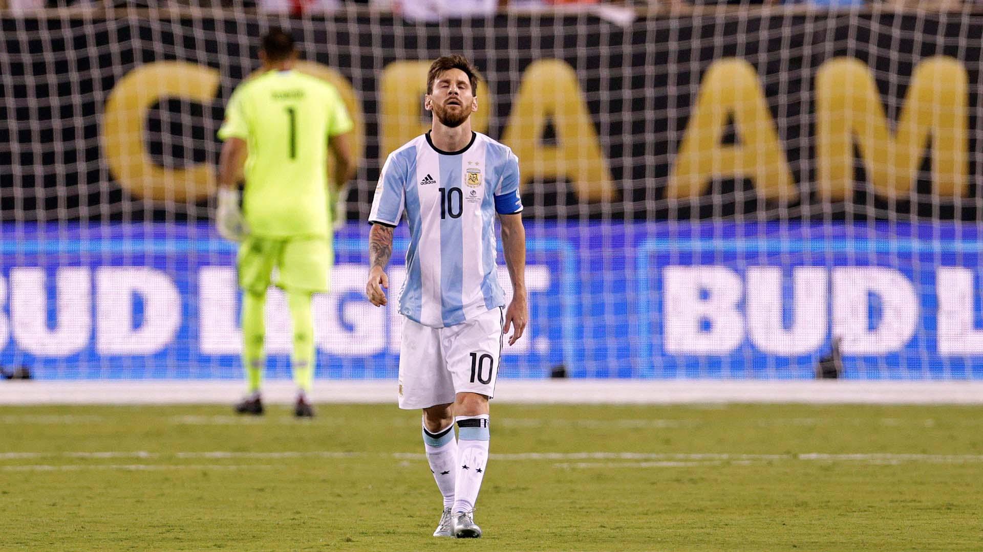 El capitán argentino no pudo poner en ventaja a Argentina