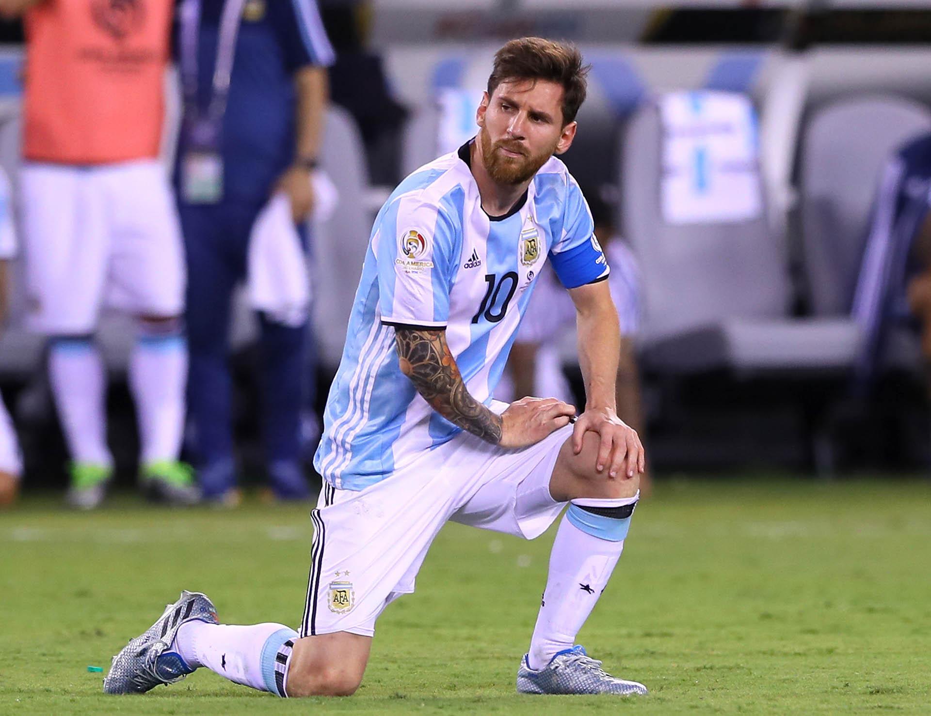 Messi se retiró de la Selección