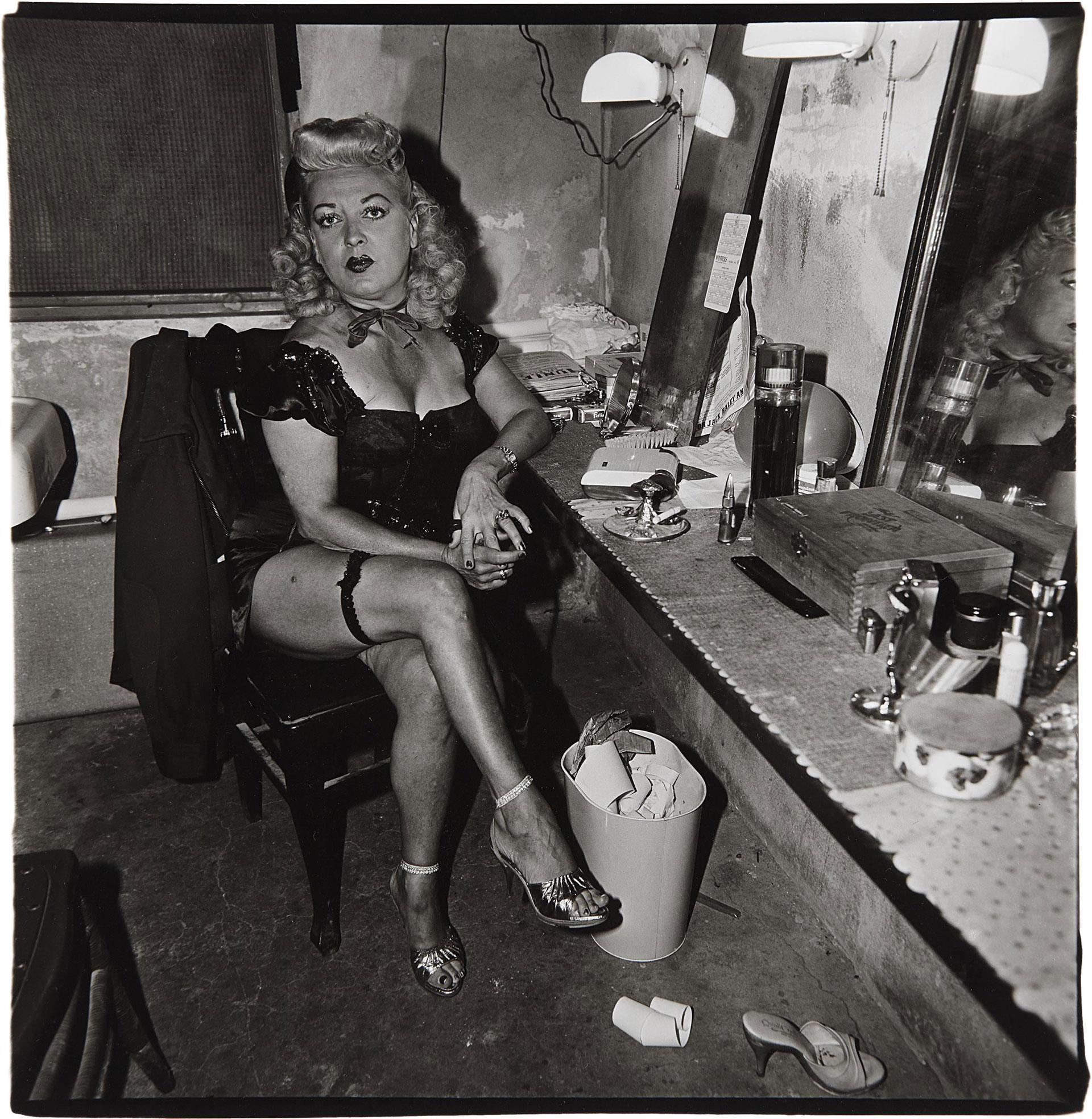 Comediante en su camerino, Atlantic City, 1963.