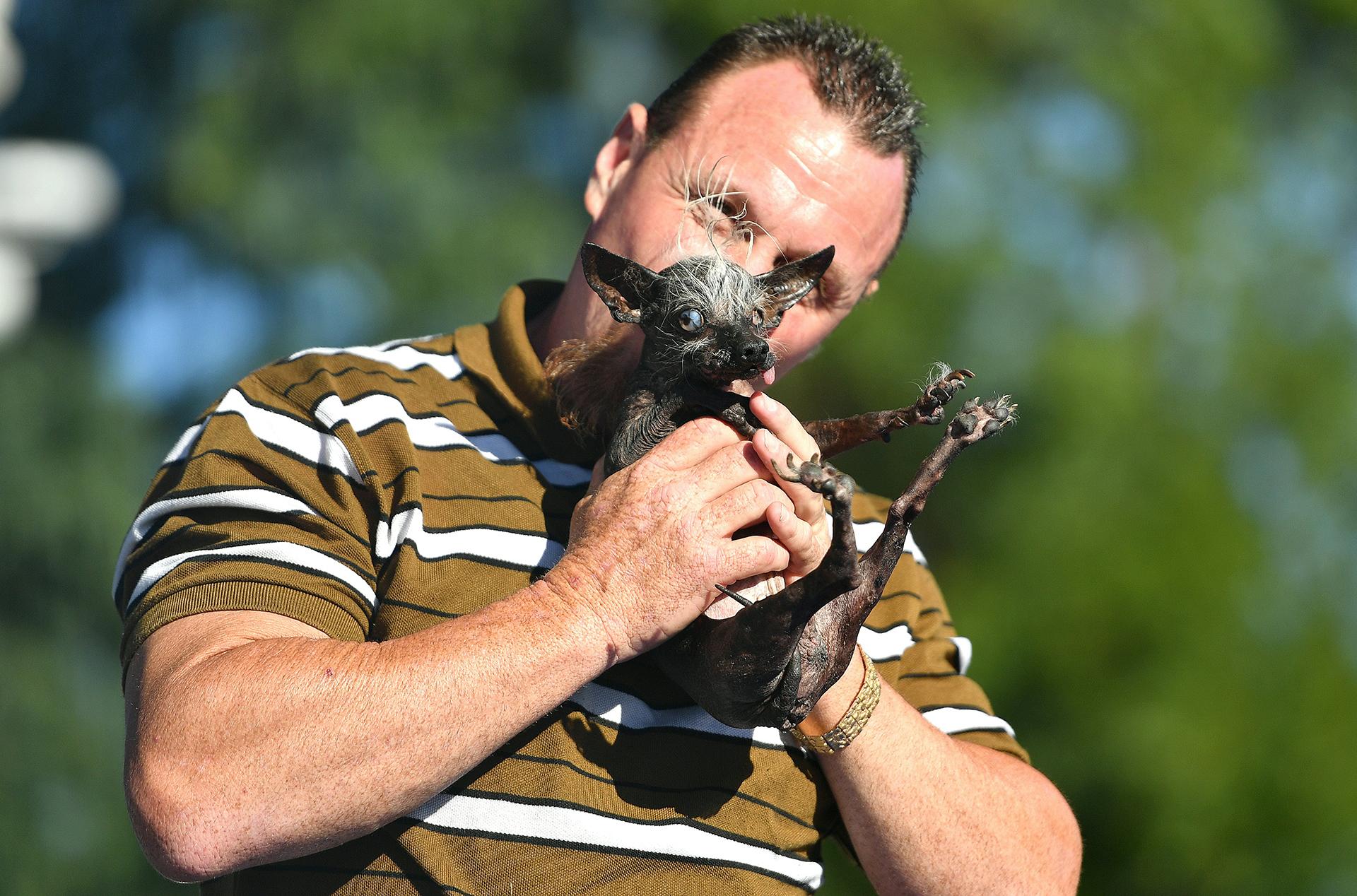 Sweepie Rambo se alzó con el primer premio de 1500 dólares (AFP)