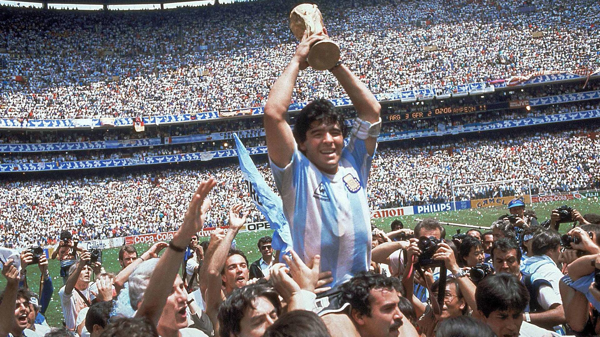 Los 5 goles de Maradona en la Copa del Mundo de México - Infobae