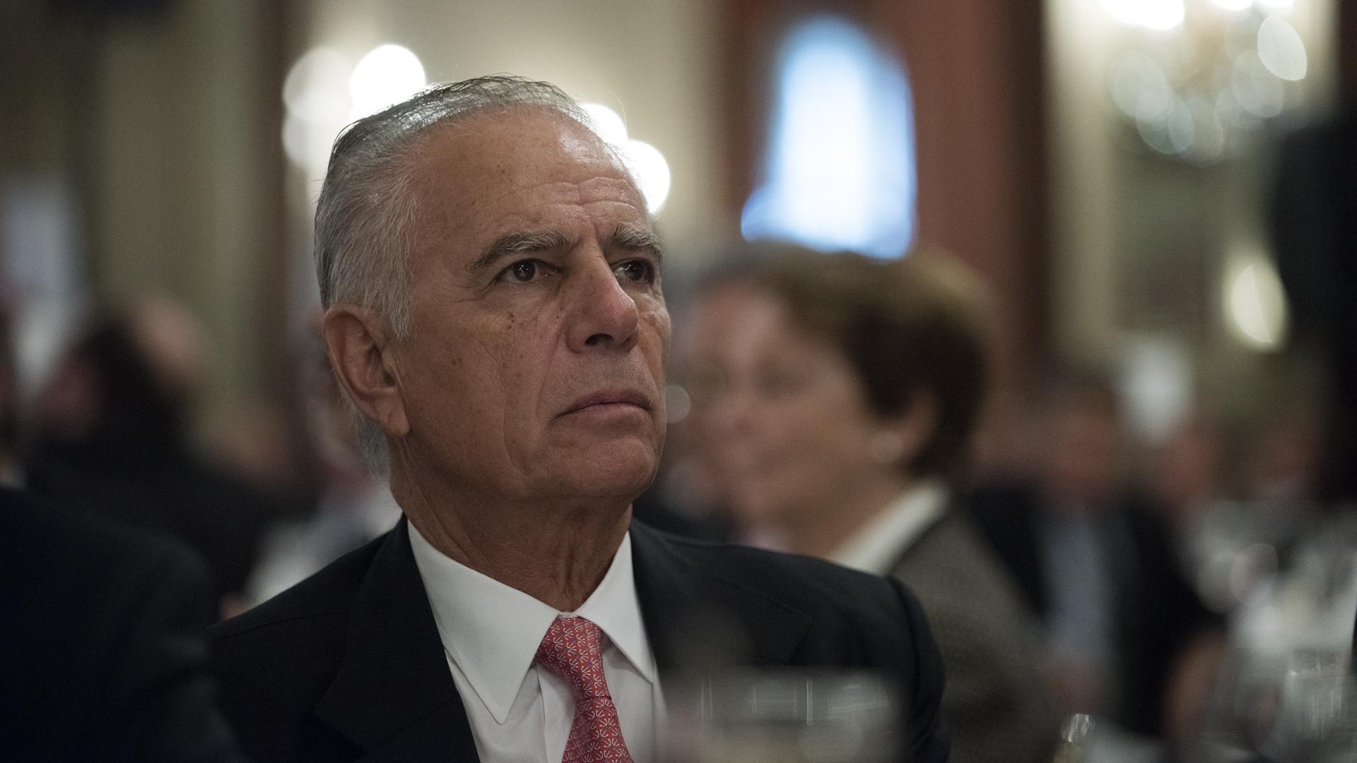 El empresario Alejandro Bulgheroni en un encuentro en Buenos Aires. (Adrián Escandar)