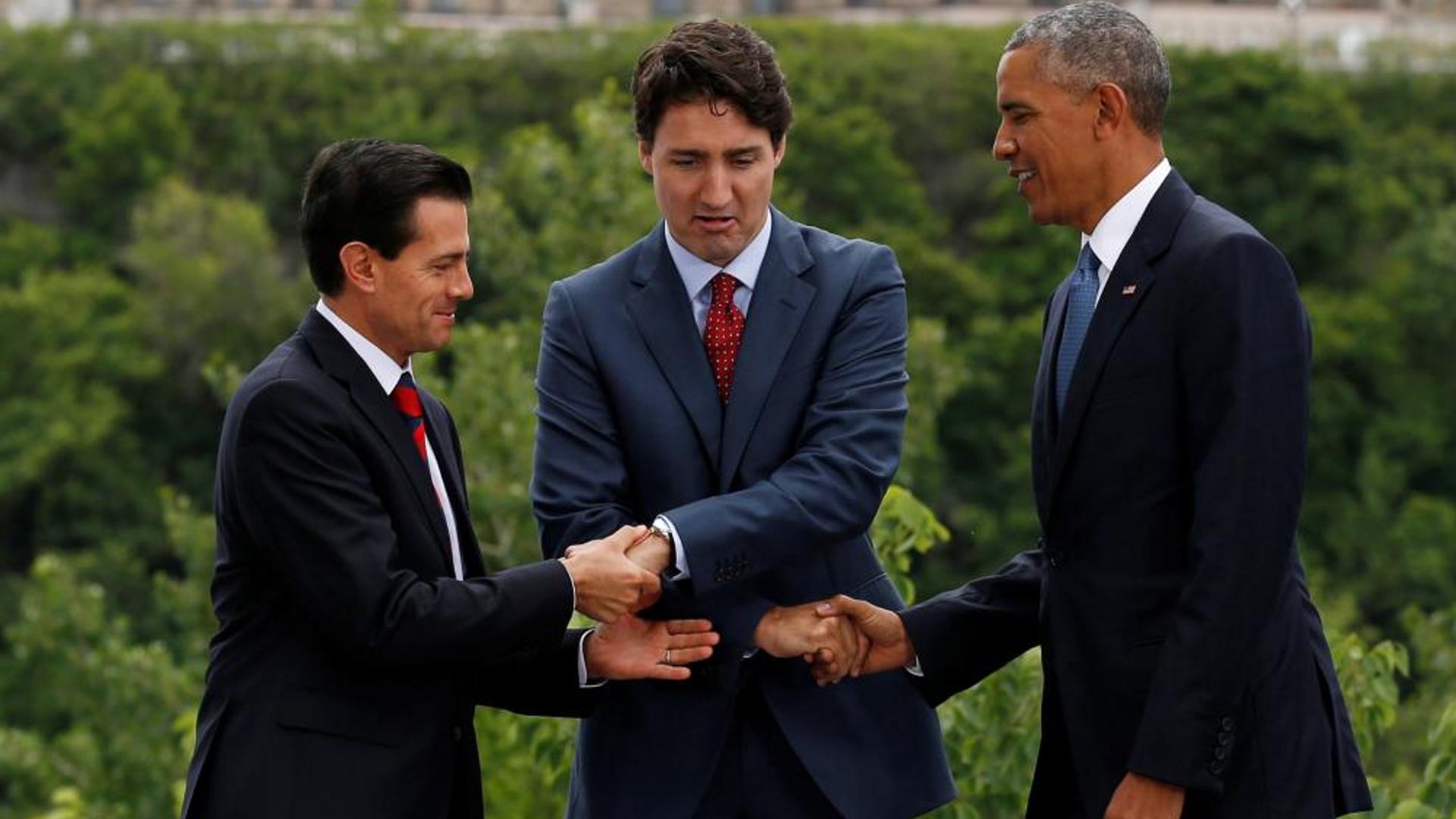 Enrique Peña Nieto, Justin Trudeau y Barack Obama encabezaron laCumbre de América del Norte en Ottawa (Reuters)