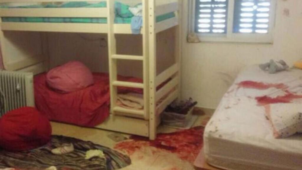 Las Fuerzas de Defensa de Israel (FDI) publicaron una foto de cómo quedó el dormitorio de la víctima