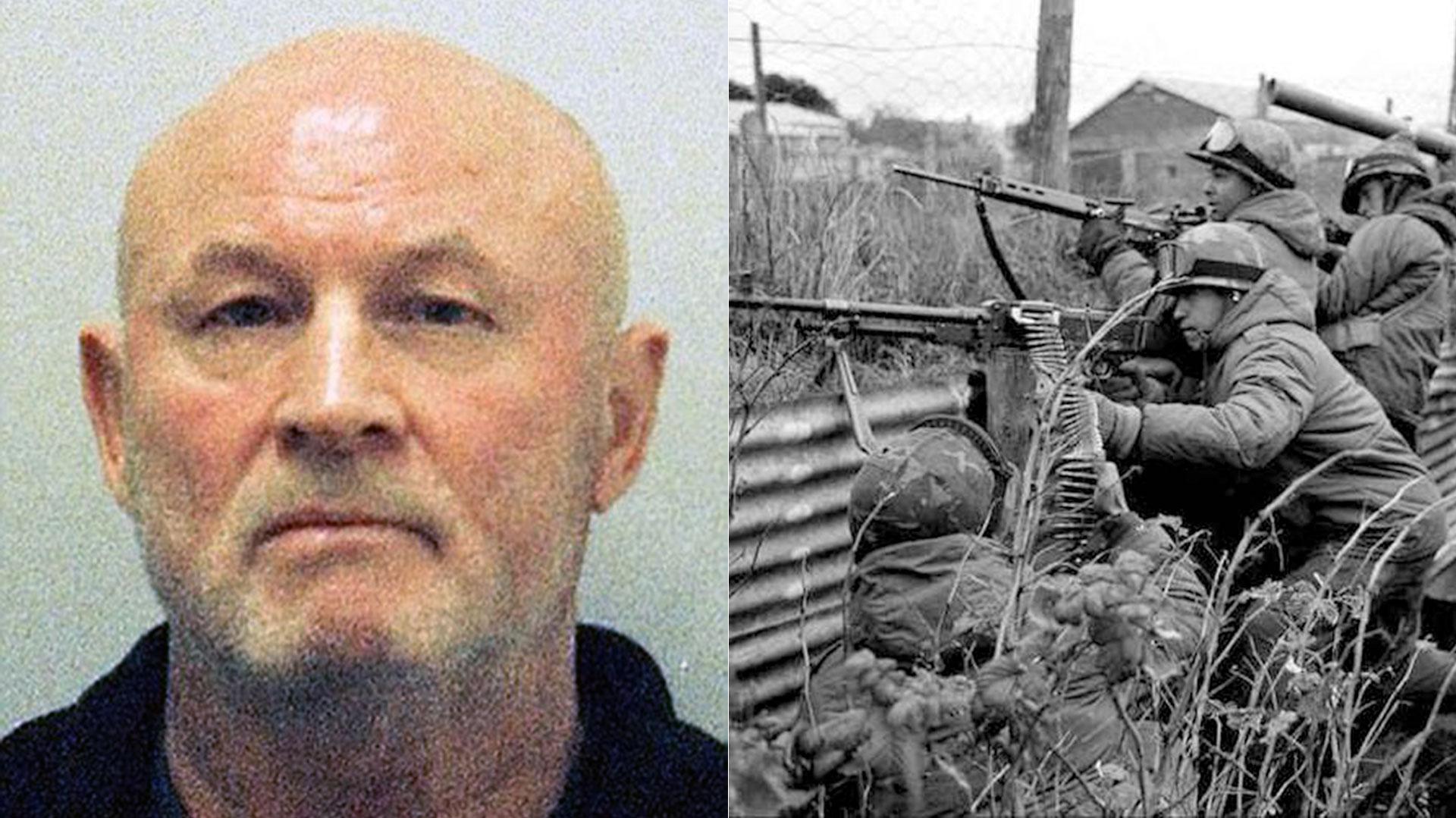 """Albert Patterson combatió en la Guerra de Malvinas en 1982. Robó un arma a un oficial argentino como """"trofeo"""", presumió de ésa 34 años después y terminó preso"""