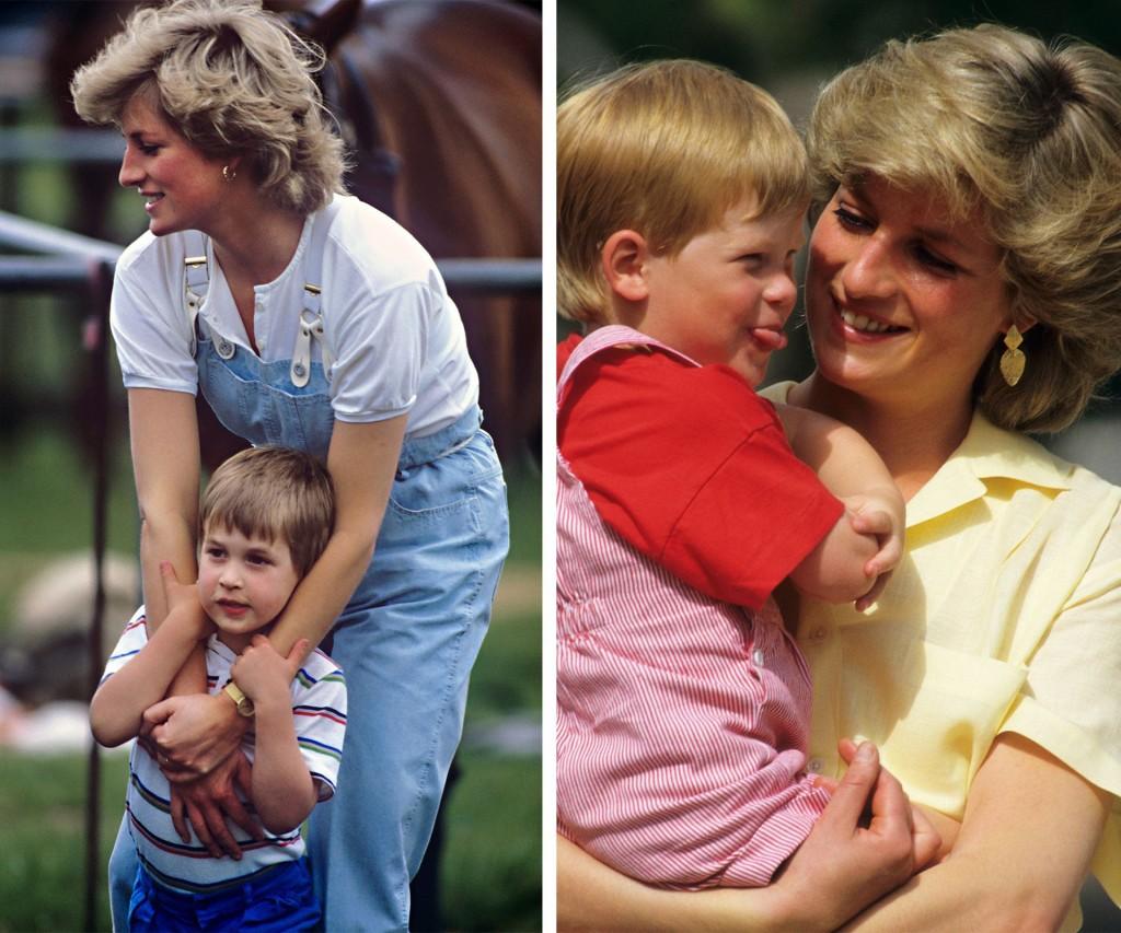 Hasta su muerte, Diana disfrutó mucho de la infancia de sus hijos