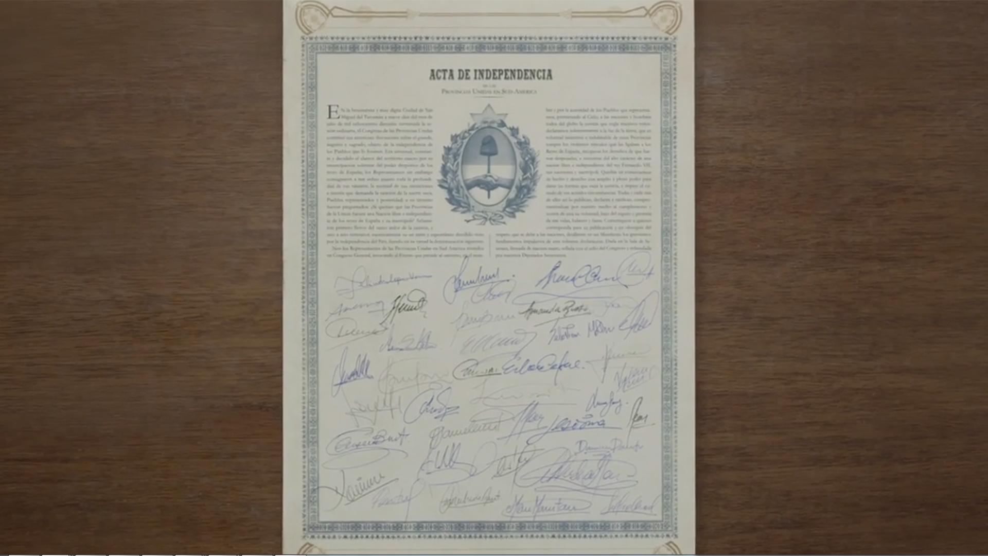 ACTA DE INDEPENDENCIA 1920 bicentenario
