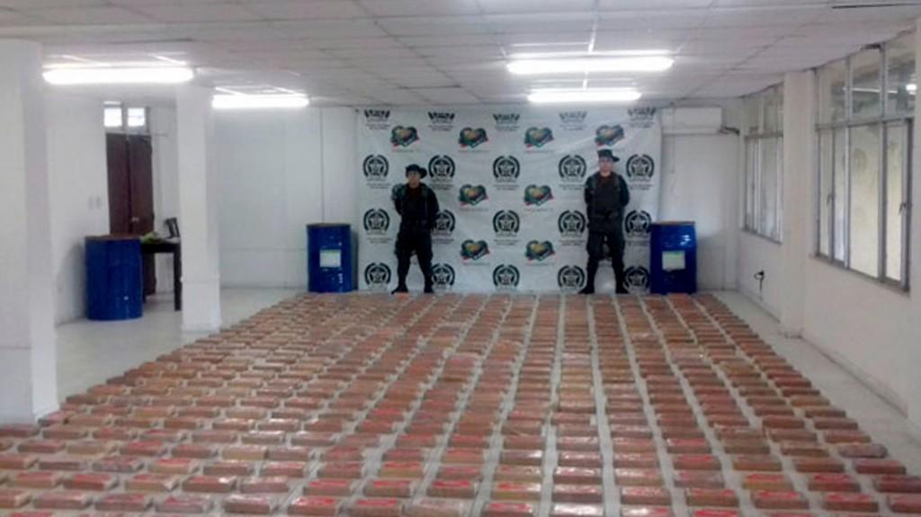 El cargamento hallado en Buenaventura a principios de julio