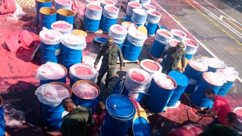 A principio de julio, autoridades de Colombia hallaron media tonelada de cocaína escondida en un cargamento de fresas en Buenaventura