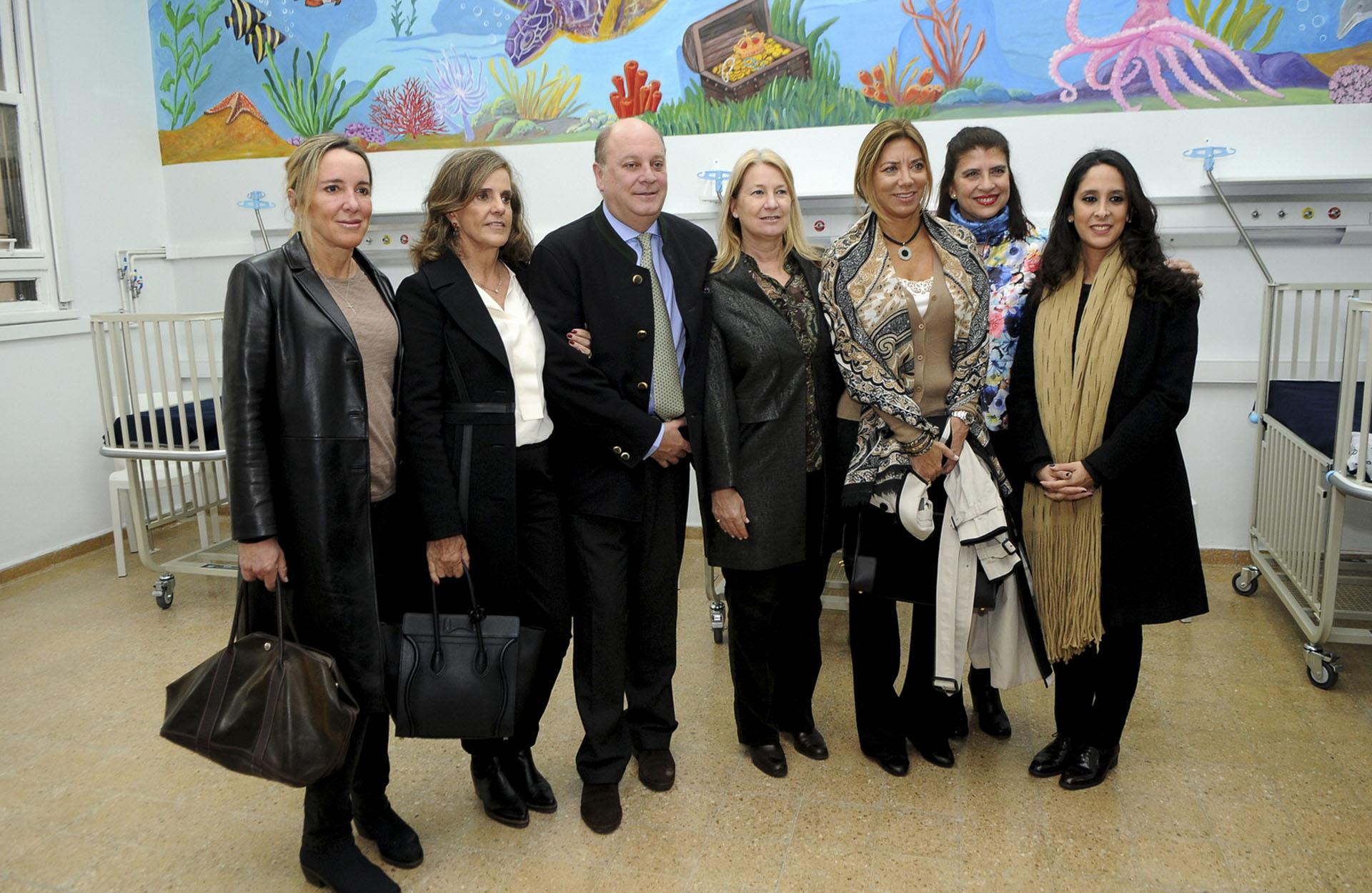 Veronica Zoani, Silvia Neuss, Martín Cabrales, Bettina Bulgheroni, Marta Diez y Vanesa Noble Herrera /// Fotos: Fundación Hospital de Clínicas