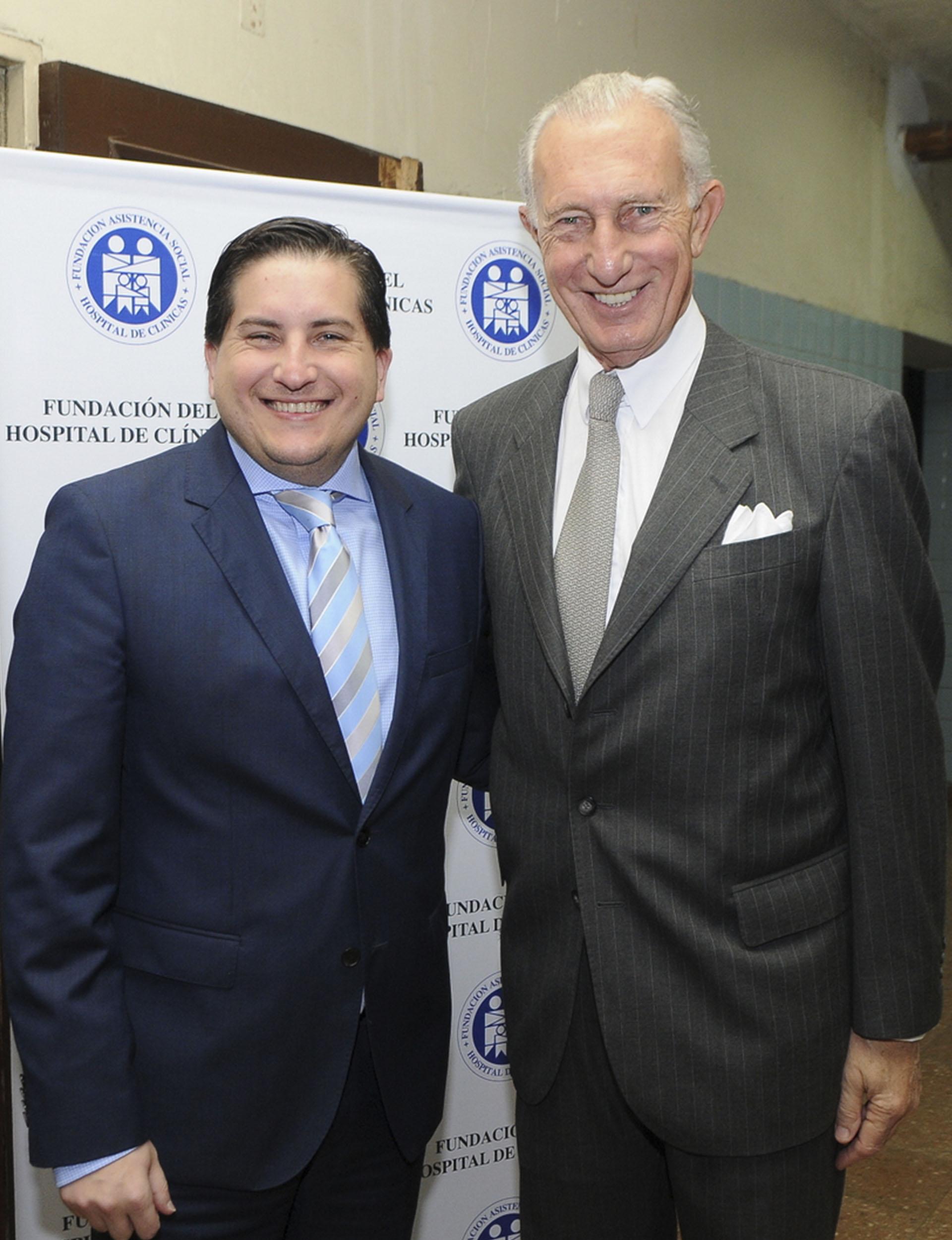 Gastón Corral, director de Sustentabilidad Corporativa deHSBCArgentina, y el empresario Jorge Neuss